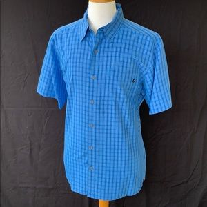 Marmot Blue Check Button Up Shirt.  XL